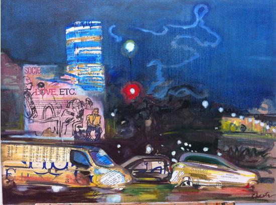 l 39 me des villes exposition de peinture jacqueline chesta art et soci t pcf 75004 paris. Black Bedroom Furniture Sets. Home Design Ideas