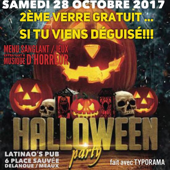halloween party le latinao 39 s club meaux 77100 sortir paris le parisien etudiant. Black Bedroom Furniture Sets. Home Design Ideas