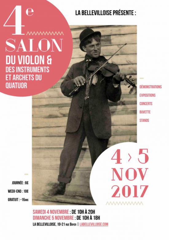 4e salon du violon bellevilloise paris 75020 sortir for Salon e commerce paris 2017