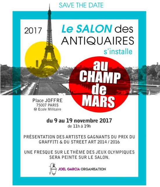 Salon des antiquaires kiosque musique du champs de for Salon 2018 france