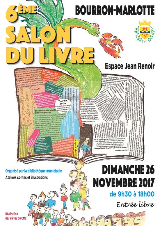 6 me salon du livre de bourron marlotte espace jean for Salon etudiant 2017 paris