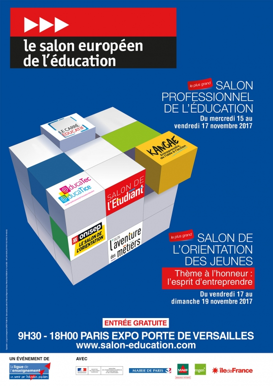 Flyer salon de l 39 education 2017 parc des expositions for Salon porte de versailles horaires