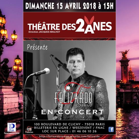 felizardo soares theatre des 2 anes paris 75018 sortir paris le parisien etudiant. Black Bedroom Furniture Sets. Home Design Ideas