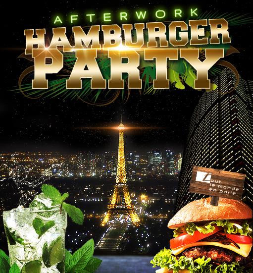 afterwork hamburger party sur les toits de paris club interieur terrasse geante tout le. Black Bedroom Furniture Sets. Home Design Ideas