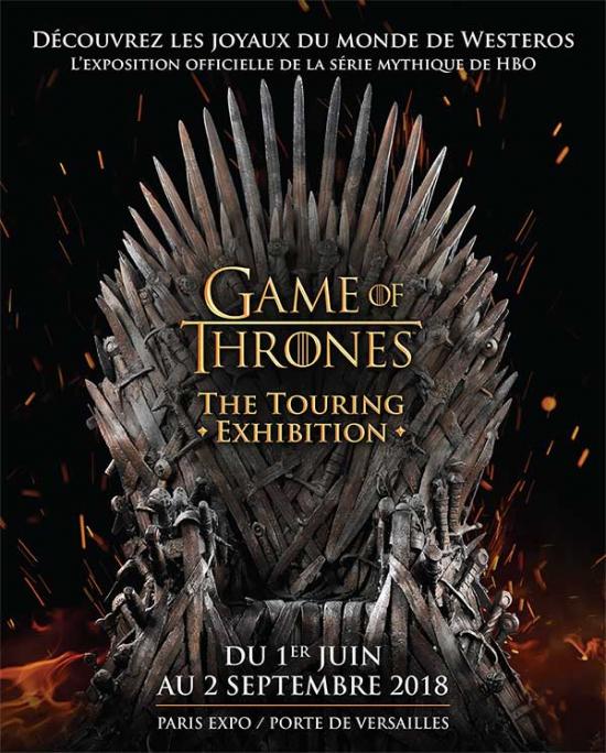 Audioguide game of thrones the touring exhibition parc - Parc des expositions de la porte de versailles ...