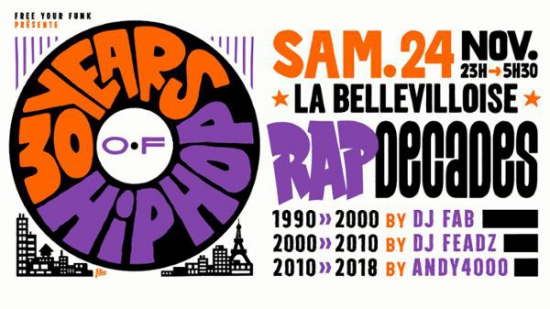 free your funk 30 years of hip hop 24 novembre