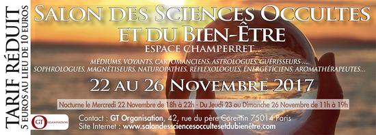 Salon des sciences occultes et du bien tre espace champerret paris 75017 sortir paris - Salon etudiant champerret ...