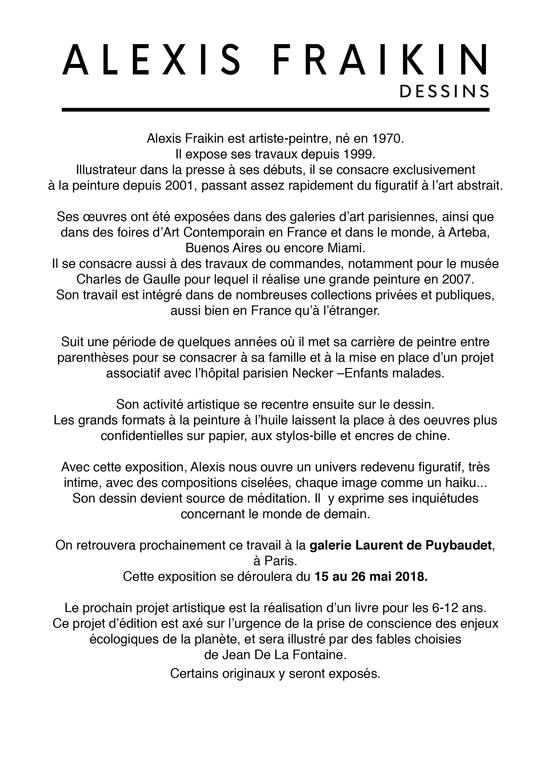 Alexis Fraikin Dessins Galerie Laurent De Puybaudet