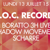 affiche  D.O.C. : GUI BORATTO (3 Hours Live), SHADOW MOVEMENT & SCHARRE