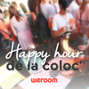 affiche HAPPY HOUR DE LA COLOC
