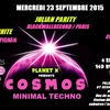 affiche PLANET X présente MINIMAL COSMOS PARTY