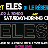 affiche concert ELES + Saturday Morning Cinema
