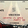 affiche Strictesse - Crypto /\ Apex.Party 02