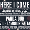 affiche HERE I COME - Panda dub, Tambour Battant, Bazil + Aftershow