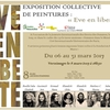 affiche Invitation / Vernissage / Exposition  EVE EN LIBERTE