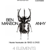 affiche Ben Manson Vs Anhy // 4 Elements Paris