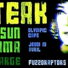 affiche STEAK + RED SUN ATACAMA + MONTECHARGE