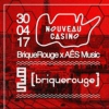 affiche AÊSmusic X BriqueRouge @nouveau Casino