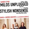 affiche MILOS UNPLUGGED  (France-Pérou) + STYLISH NONSENSE (Thaïlande)