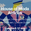 affiche HOUSE OF MODA AIRLINES
