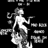 affiche Mad Kick + Aanod + Equal in Death