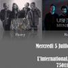 affiche Soirée Rock : Raptur Farm + Mad Kick + Useless Minds