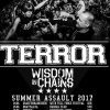 affiche TERROR + WISDOM IN CHAINS + GUEST