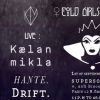 affiche COLD GIRLS NIGHT Kaelan Mikla, Hante. Drift.
