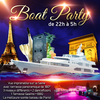 affiche PARIS BOAT PARTY (FILLE > GRATUIT, 2 AMBIANCES CLUB, TERRASSE COUVERTE, MOJITOS...)