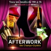 affiche AFTERWORK MOJITO MADAM CLUB CHAMPS ELYSEES