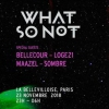 affiche WHAT SO NOT, BELLECOUR, LOGE 21 & MORE