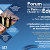 affiche Forum International de Paris sur l'Avenir de l'Education - GE7