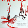 affiche Rouge, exposition d'art contemporain