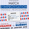 MATCH D'IMPROVISATION PROFESSIONNEL - FRANCE - LES LEGENDES DU QUEBEC