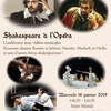 affiche Shakespeare à l'opéra, conférence musicale