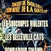 Concert de soutien à l'EchoMusée : POMPADOUR SWAMP + LES SOUCOUPES VIOLENTES + LES BELLEVILLE CATS