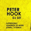 affiche Peter Hook (Joy Division, New Order) DJ SET / Supersonic Paris