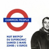 affiche Common people / La Nuit Britpop du Supersonic