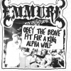affiche EMMURE + OBEY THE BRAVE +FIT FOR A KING + ALPHA WOLF