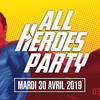 affiche ALL HEROES PARTY by OSFDR