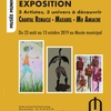 affiche Exposition des artistes Chantal Remacle, Mo Amiache et Maxabel