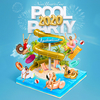 affiche AQUABOULEVARD POOL PARTY 2020 (2500 Clubbers : La + Grosse POOL PARTY au Monde avec 29°C)