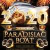affiche PARADISIAC CROISIERE VIP BOAT PARTY NEW YEAR (2 AMBIANCES / OPEN BAR/ REVEILLON MAGIQUE SUR LA SEINE)