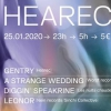 affiche HEARec w/A Strange Wedding • Leonor • Diggin' Speakrine • Gentry