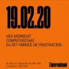 affiche Hex Midnight + Computerstaat / Dj set Fabrice de Frustration