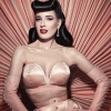 affiche DITA VON TEESE - MEET AND GREET - GLAMONATRIX