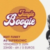 affiche Jungle Boogie #2 / Nuit Funky au Supersonic