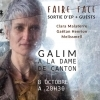affiche GALIM  Release EP + guests : Melissmell + Gaëtan Henrion + Clara Malaterre