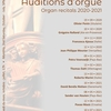 affiche Audition d'orgue