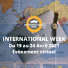 affiche International Week - évènement virtuel